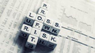 利益と損失のリスク・トレードのイメージ