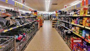 スーパーマーケットの棚卸資産の在庫