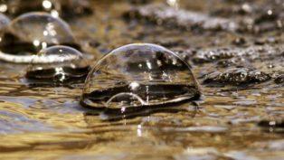 バブルをイメージする泡の画像
